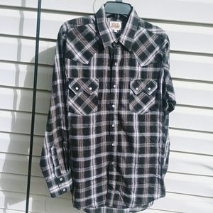 Ely Cattleman Western Shirt size Large